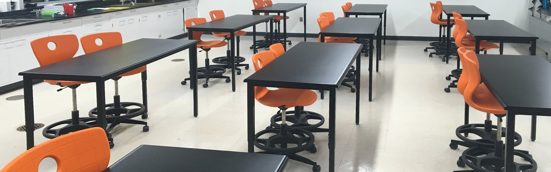Corilam Adjustable Desk Height Classroom Lab